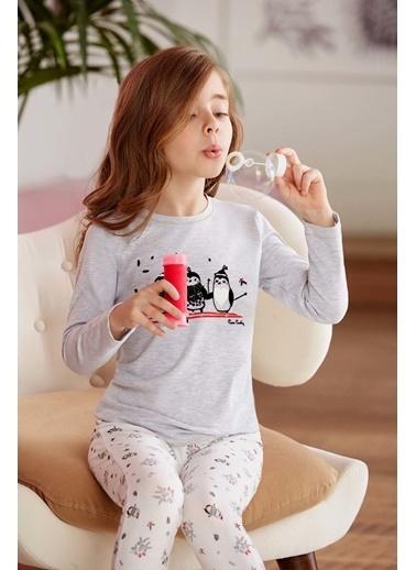 Pierre Cardin Pierre Cardin Kız Çocuk Pijama Takımı Karmelanj Beyaz